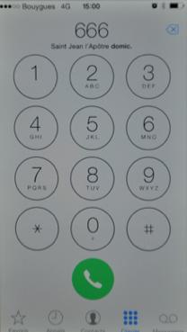 Le clavier du téléphone / Le clavier alphanumérique Iphone10
