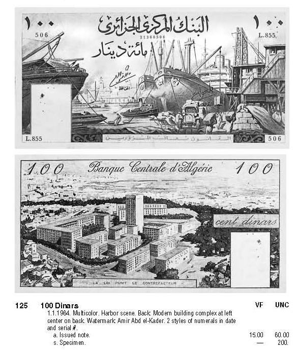 Premiere Acquisition d'un Billet Algerien 100_fr10