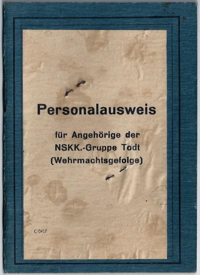 Vos livrets militaires allemands WWII (Soldbuch, Wehrpass..) / Heer-LW-KM-SS... 320