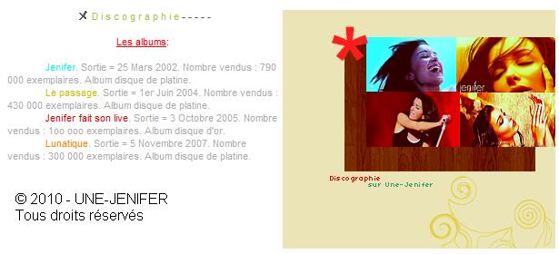Discographie de Jenifer Discoo10