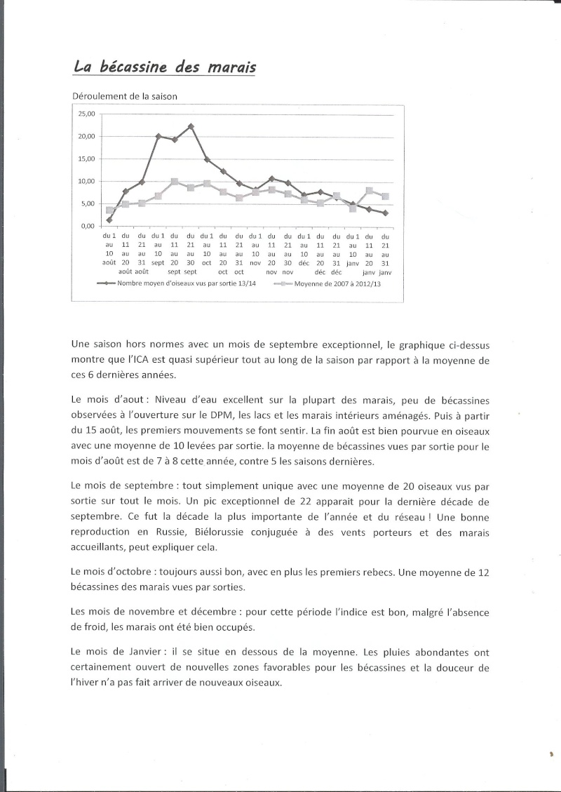 Réseau bécassine bilan saison 13/14 Gironde Reseau12