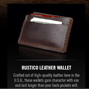 FREE Rustico Leather Wallet from Copenhagen Rus10