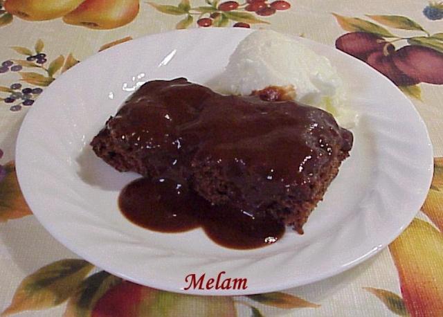 Gâteau pouding au chocolat et raisins secs Gateau10
