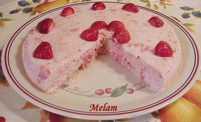 Bavarois aux fraises Mousse13