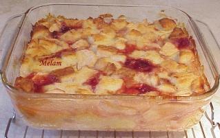 Pouding au pain-pommes-confitures Poudin27