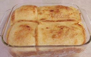 Pouding au pain de grand-mère Ève (avec sucre d'érable)  Poudin33