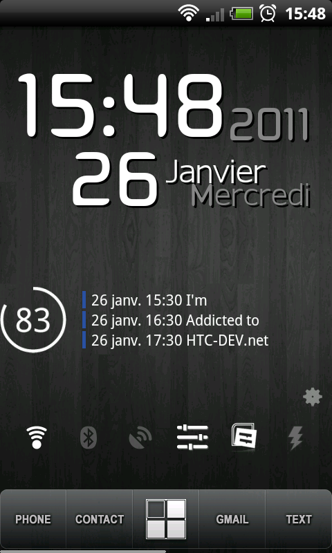 [WIDGET] MAKE YOUR CLOCK : horloge et date paramétrable à volonté [GRATUIT] Snap2010