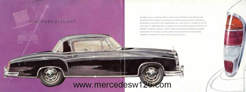 Catalogue de 1959 sur les W180 220 S/SE ponton coupé & cabriolet Ponton13