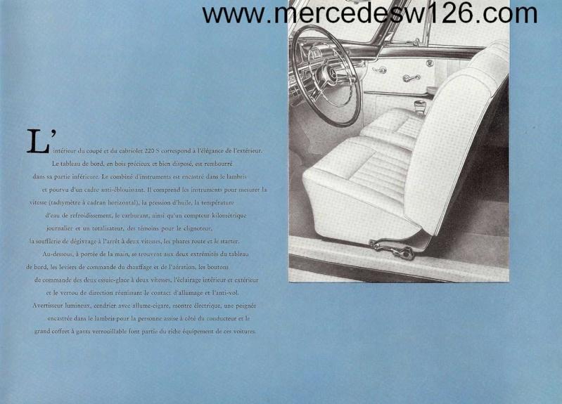 Catalogue de 1959 sur les W180 220 S/SE ponton coupé & cabriolet Ponton15