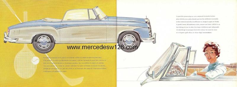 Catalogue de 1959 sur les W180 220 S/SE ponton coupé & cabriolet Ponton16