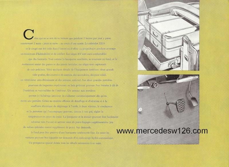 Catalogue de 1959 sur les W180 220 S/SE ponton coupé & cabriolet Ponton18