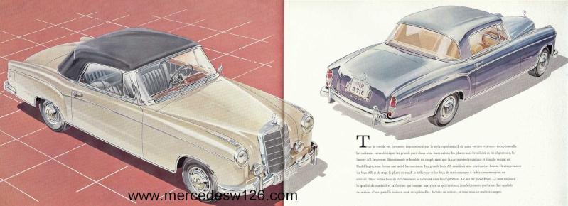 Catalogue de 1959 sur les W180 220 S/SE ponton coupé & cabriolet Ponton19