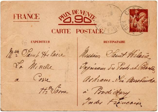 Utilisation des entiers Iris et Pétain et cartes interzones hors de France 1940_i12