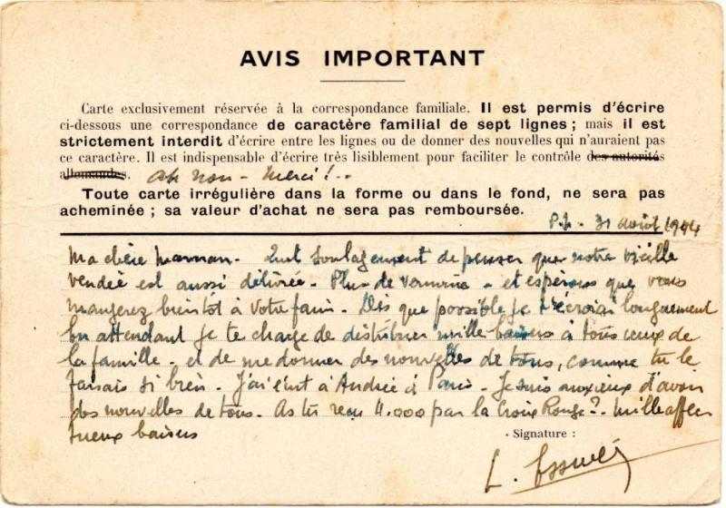 Utilisation des entiers Iris et Pétain et cartes interzones hors de France 1944_a11