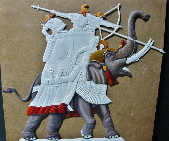 Elephants de guerre - Gottstein - plat 30mm  les 2 finis 00210
