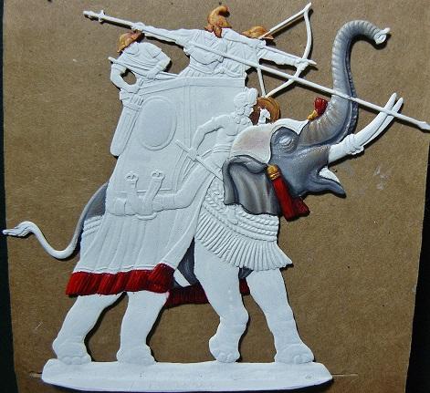 Elephants de guerre - Gottstein - plat 30mm  les 2 finis 00810
