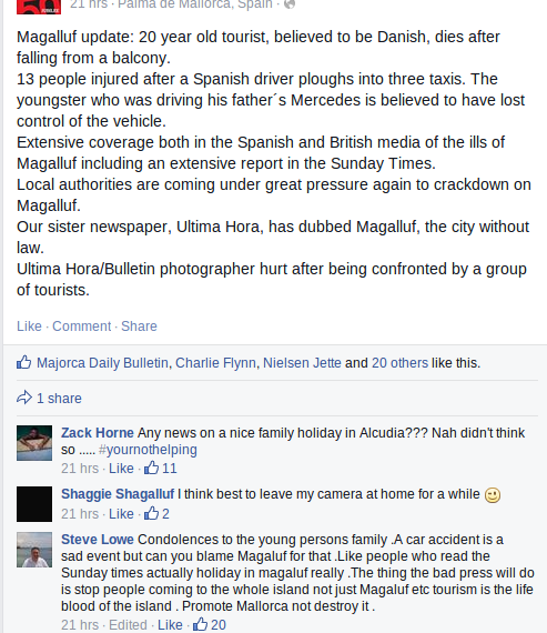 Chatting about magaluf problems on facebook Maga_i10