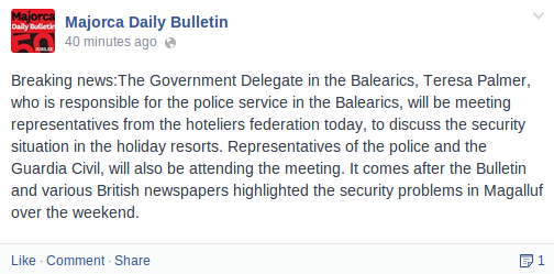 Is this more hot air or is the hotel groups putting pressure on the government Police10