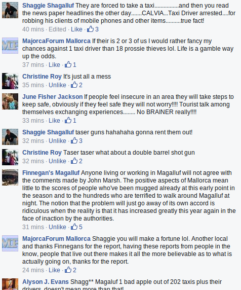 Chatting about magaluf problems on facebook Prossi12