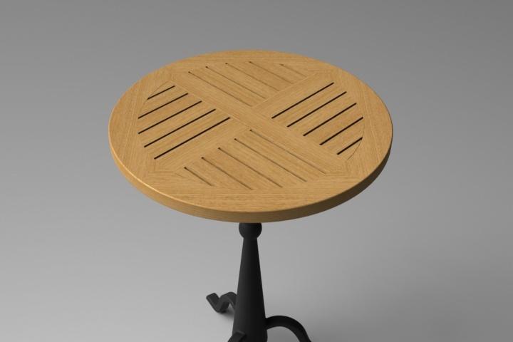 Fabrication d'un plateau  en bois pour table de bistrot - Page 6 Table10