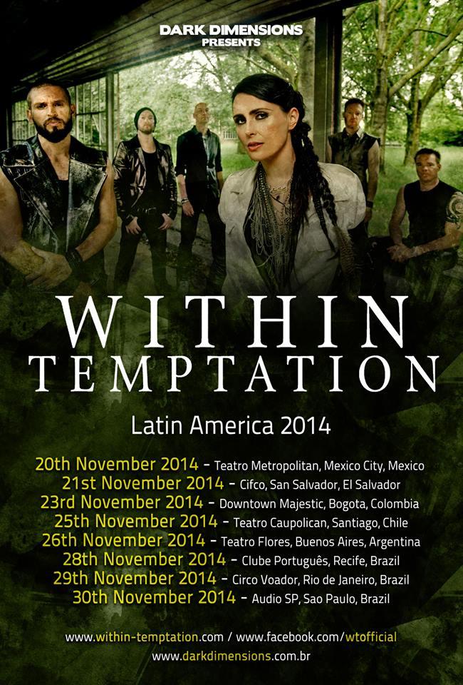 Within Temptation en Amérique du Sud en Novembre 2014 10468310