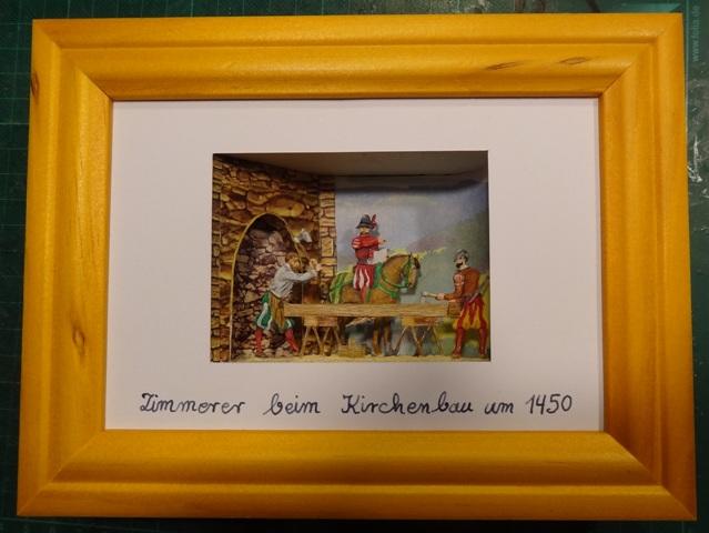 Zimmerleute beim Kirchenbau, Zinn, 30mm Figuren Dsc06324