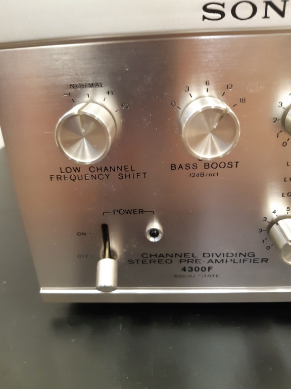 Sony channel dividing stereo pre-amplifier(used) 20210116