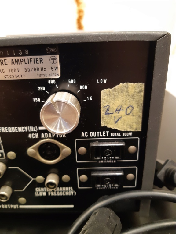 Sony channel dividing stereo pre-amplifier(used) 20210118