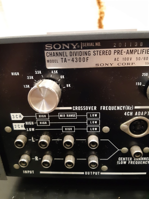 Sony channel dividing stereo pre-amplifier(used) 20210120