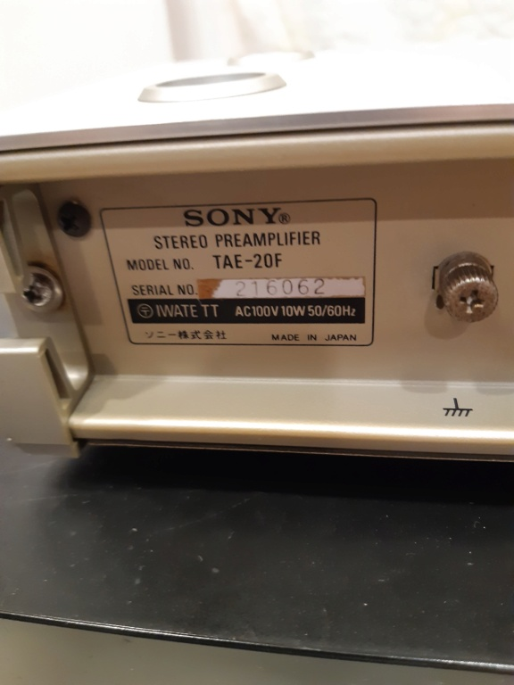 Sony stereo preamplifier(used)sold 20210129