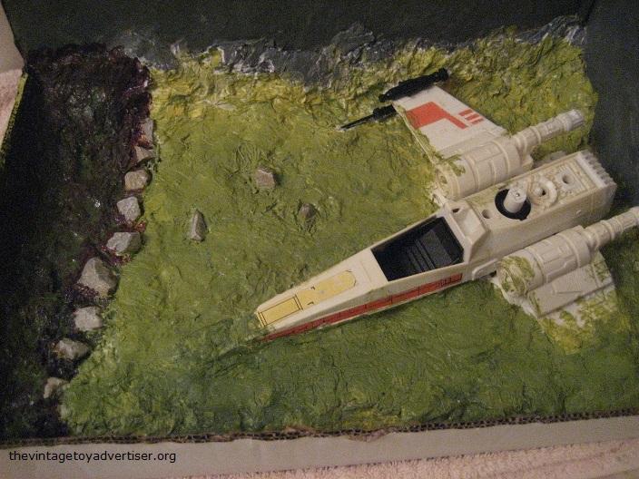 Dagobah diorama - X-Wing landing  C_dago10