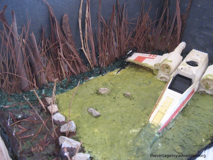 Dagobah diorama - X-Wing landing  E_dago10