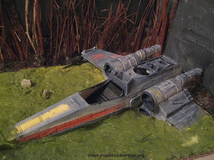 Dagobah diorama - X-Wing landing  F_dago10