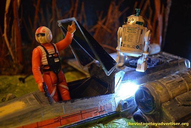 Dagobah diorama - X-Wing landing  Luke-a10