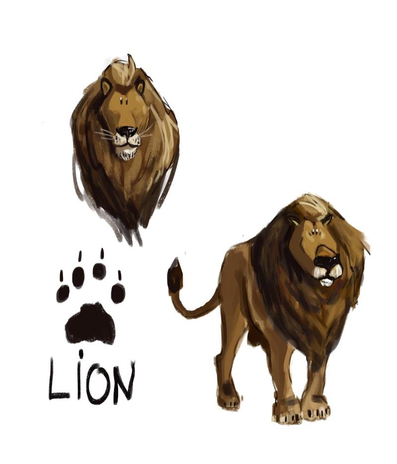 Les études de luki - Page 2 Lion_d10