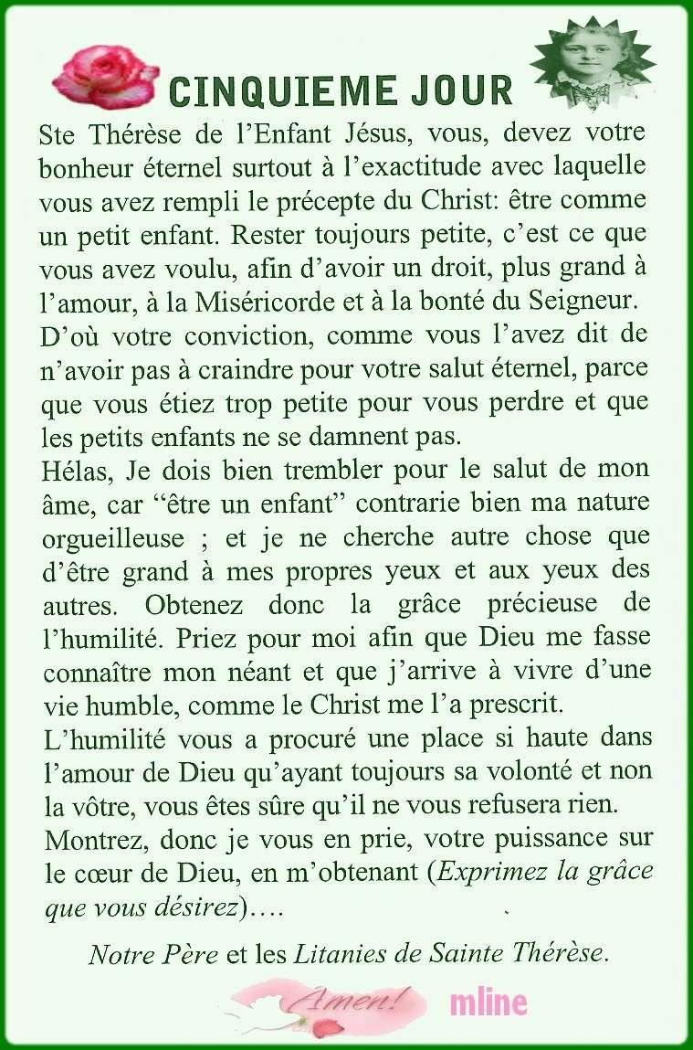 Neuvaine à Sainte Thérèse de Lisieux (22 Septembre / 1er octobre) The510