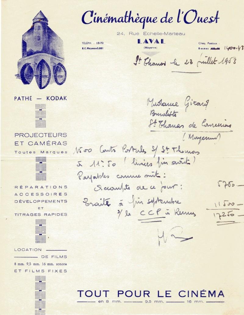 facture achat de cartes postales de 1953  Factur10