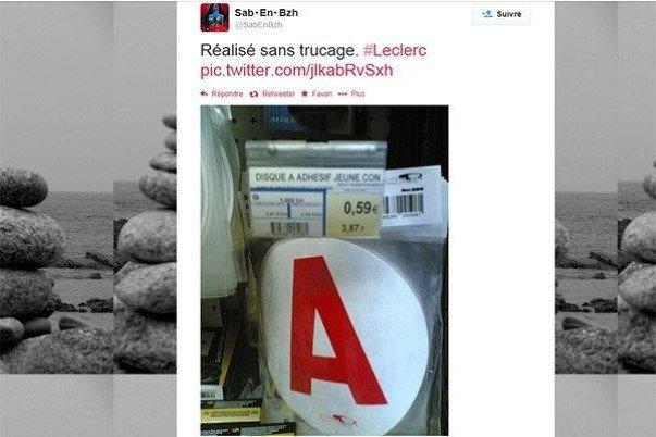 C'est le symbole de l'Apprentissage chez Leclerc se sont des ..  bien lire l'étiquette A11
