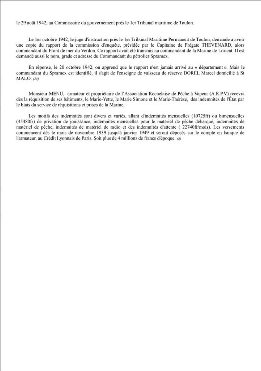 [ Histoires et histoire ] Naufrage du Chalutier Militaire AD 157 Marie-Yette en mars 1940. 1030