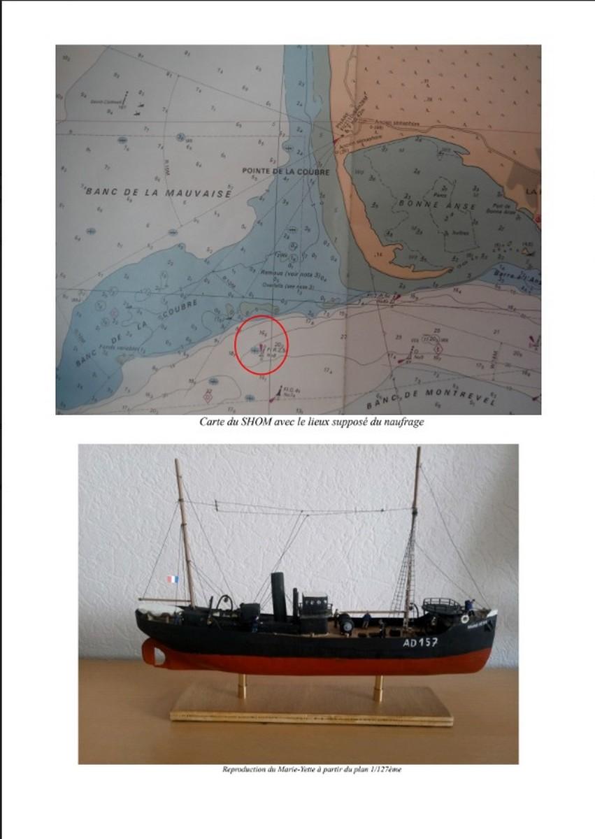 [ Histoires et histoire ] Naufrage du Chalutier Militaire AD 157 Marie-Yette en mars 1940. 11101