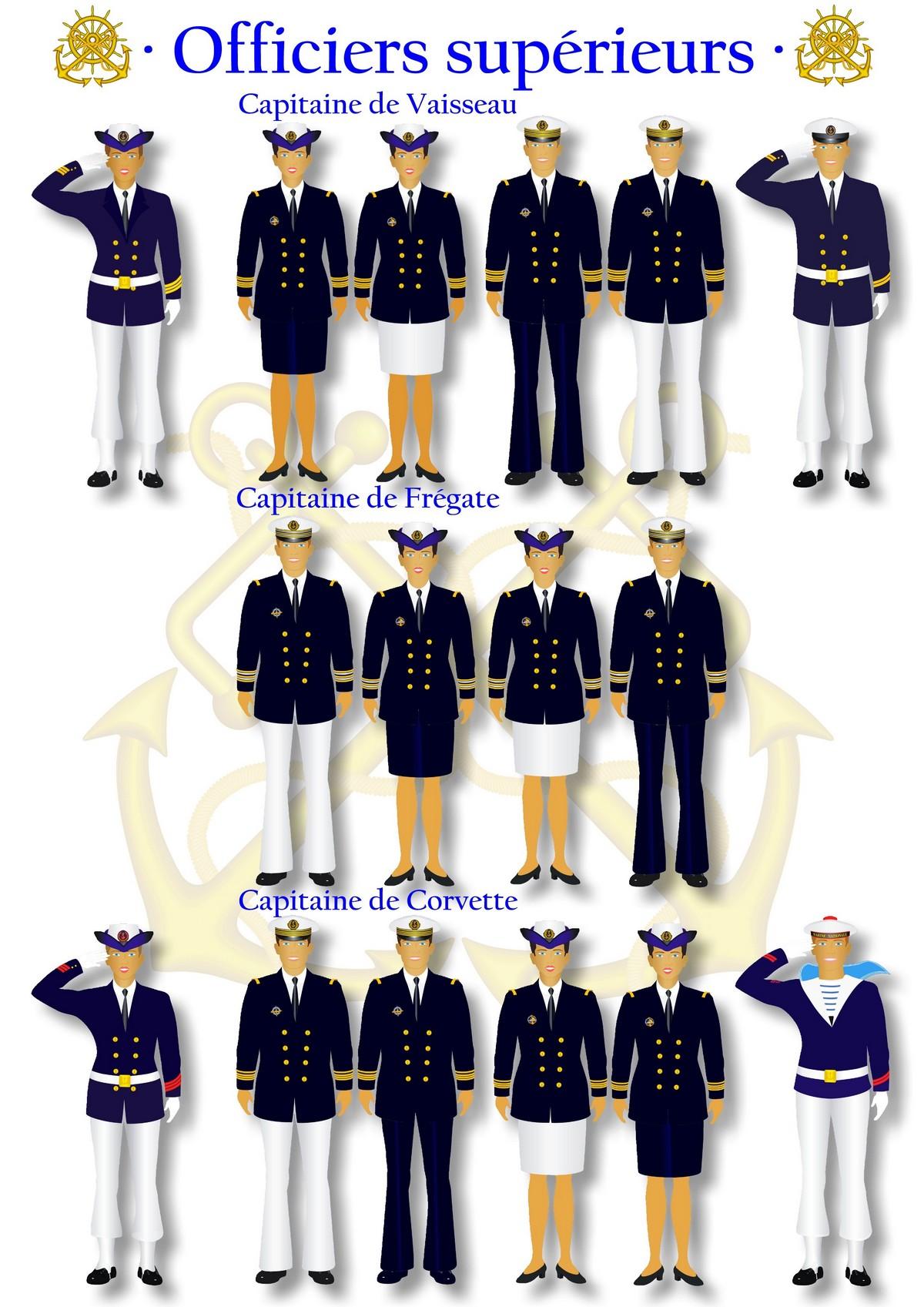 [LES TRADITIONS DANS LA MARINE] Planches dessins des grades et uniformes 2144