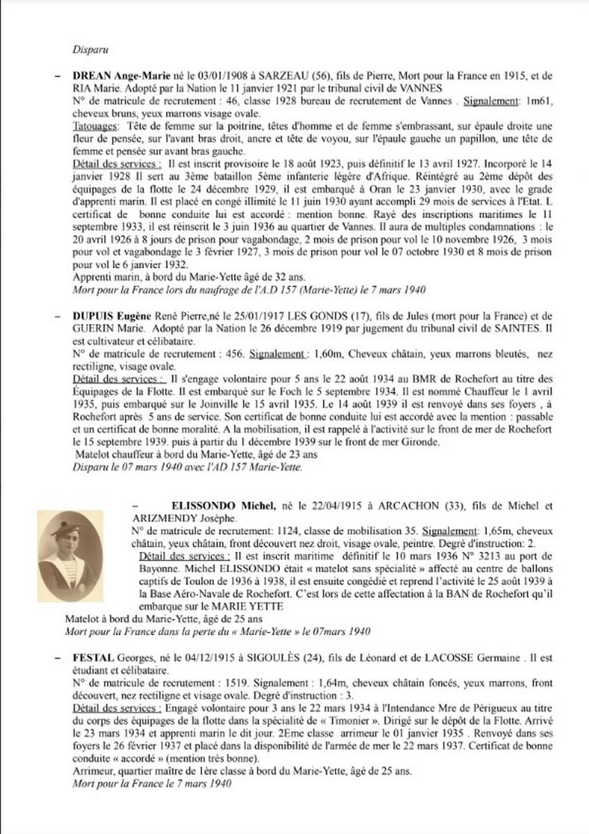 [ Histoires et histoire ] Naufrage du Chalutier Militaire AD 157 Marie-Yette en mars 1940. 2245