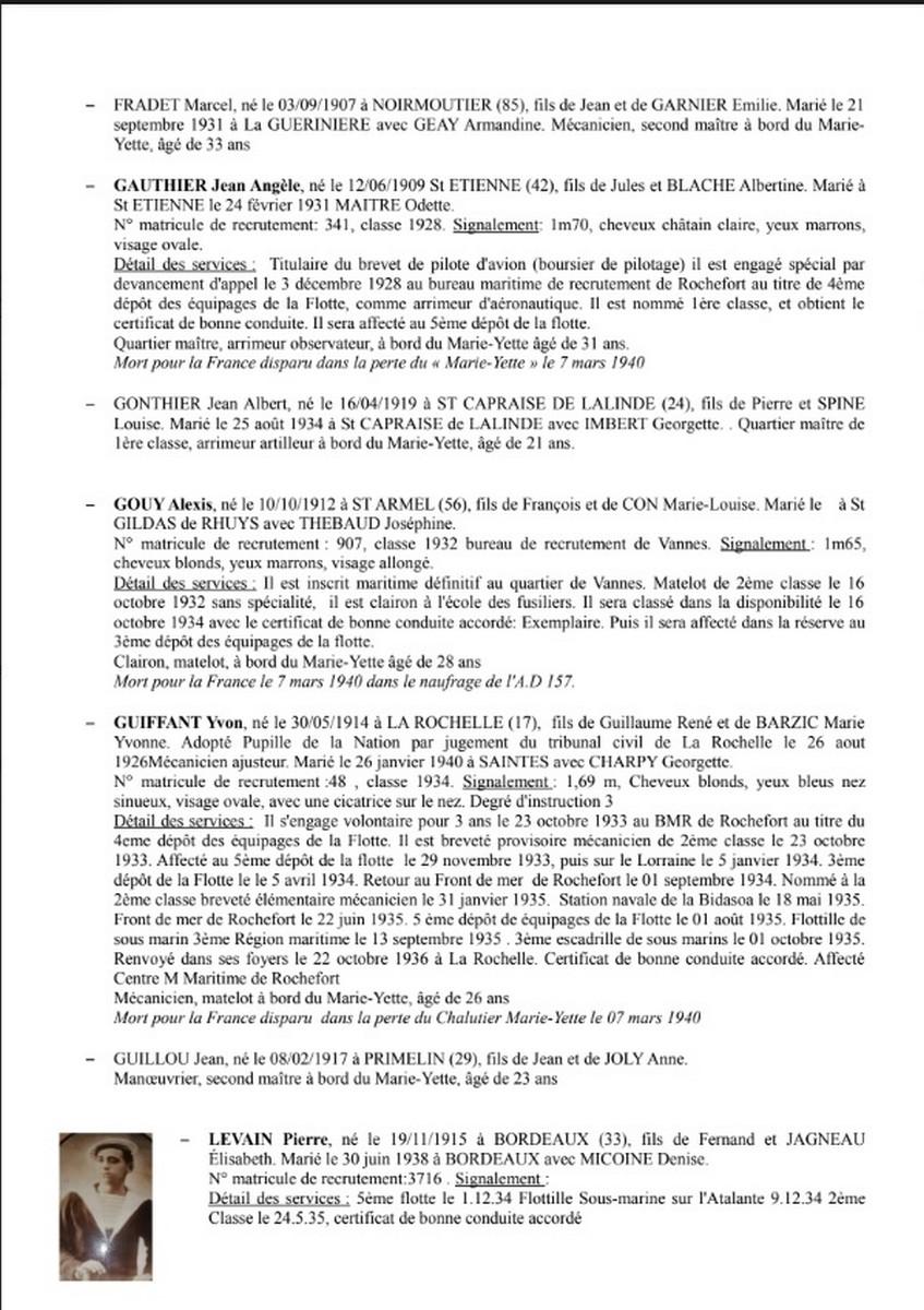 [ Histoires et histoire ] Naufrage du Chalutier Militaire AD 157 Marie-Yette en mars 1940. 3154