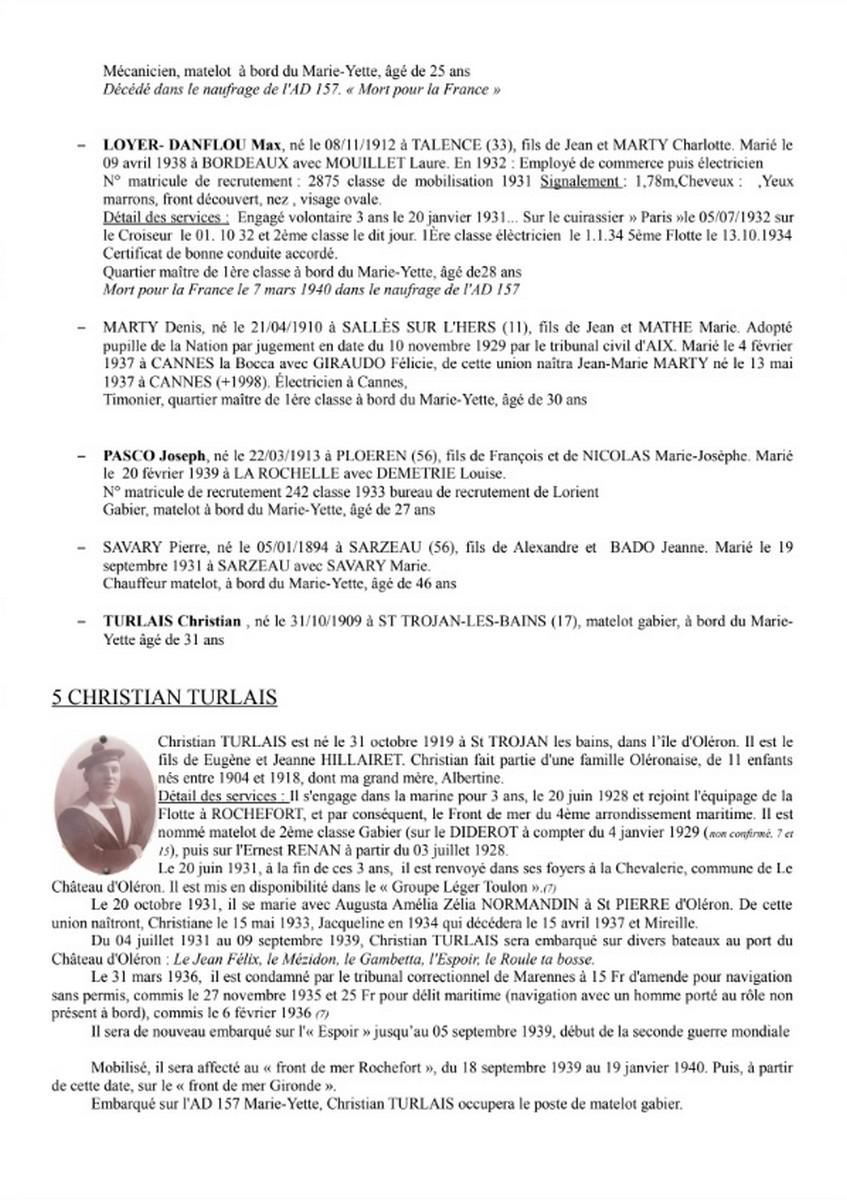 [ Histoires et histoire ] Naufrage du Chalutier Militaire AD 157 Marie-Yette en mars 1940. 4107