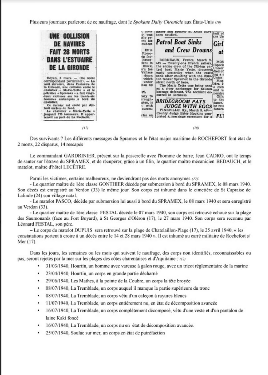 [ Histoires et histoire ] Naufrage du Chalutier Militaire AD 157 Marie-Yette en mars 1940. 742