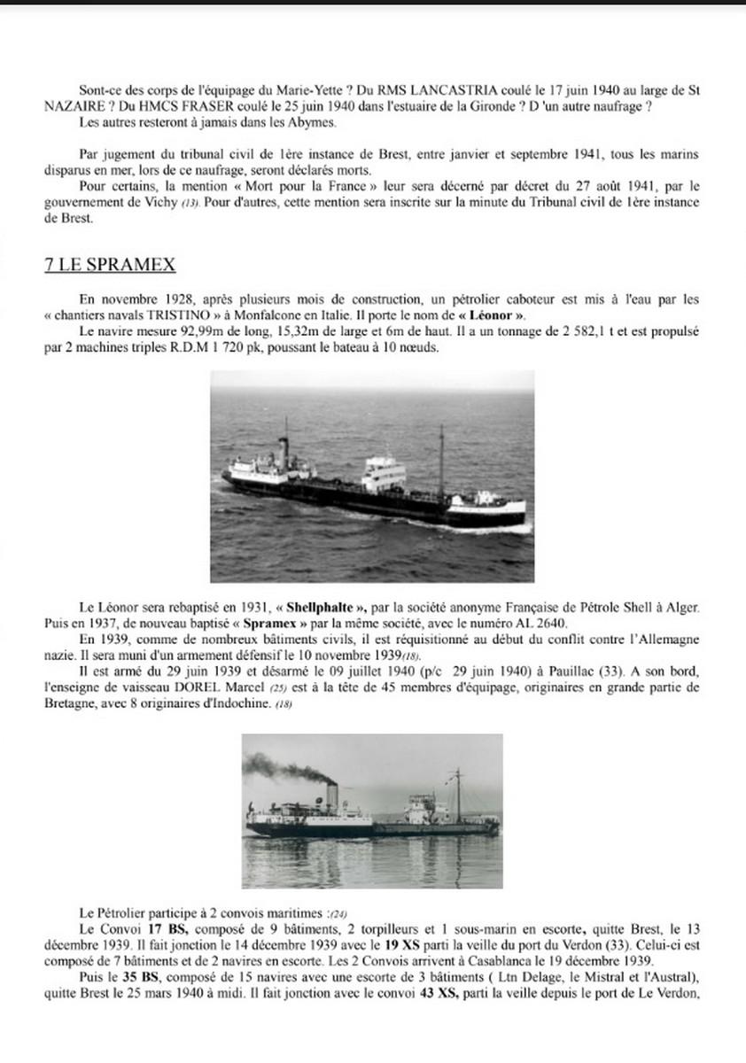 [ Histoires et histoire ] Naufrage du Chalutier Militaire AD 157 Marie-Yette en mars 1940. 843