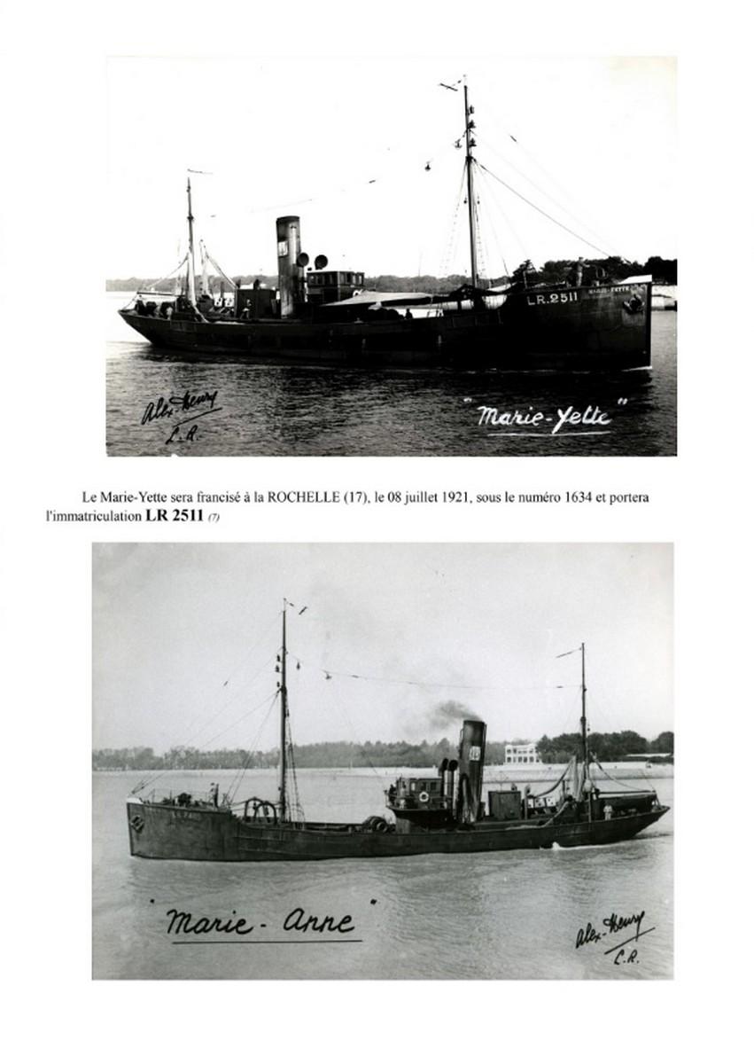 [ Histoires et histoire ] Naufrage du Chalutier Militaire AD 157 Marie-Yette en mars 1940. E14