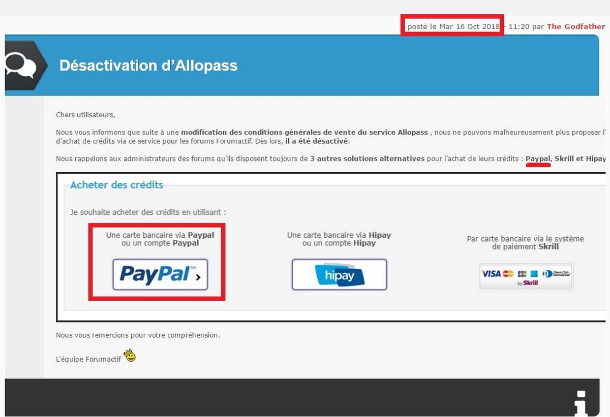 paypal - Achat des crédits par PayPal Sans_230
