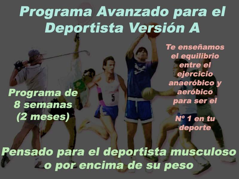 Programa Avanzado para el Deportista Versión A Versio19