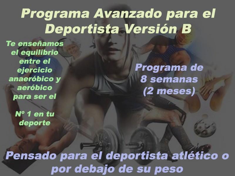 Programa Avanzado para el Deportista Versión B Versio20
